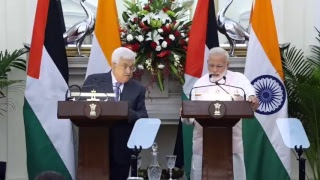 Exchange of Agreements & Press Statements: State Visit of President of Palestine to India