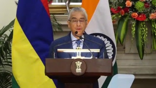 Exchange of Agreements & Press Statements: State Visit of Prime Minister of Mauritius to India