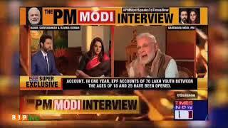 PM Modi busts the propaganda on lack of jobs with irrefutable figures.