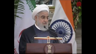 Exchange Agreements, Press statements & Postal Stamp release: Visit of President of Iran to India