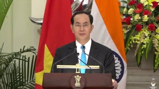 Exchange of Agreements & Press Statements: State Visit of President of Vietnam to India