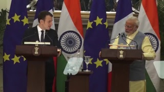 Exchange of Agreements & Press Statements: State Visit of President of France to India