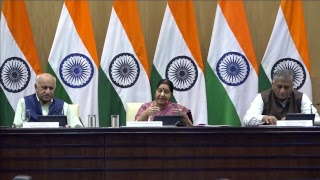 Press Conference by External Affairs Minister on the issue of Iraq