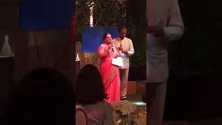 Kokilaben Ambani's speech in Gujarati during engagement ceremony of Isha Ambani