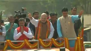 Shri Amit Shah's roadshow from Bamutia to Mohanpur in Tripura