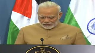 PM Modi's speech at Joint Press Statement with President Mahmoud Abbas of Palestine