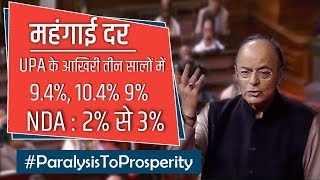 Inflation rate has been brought down from double-digit under the UPA rule to the average of 3.6%.