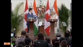 PM Modi & Canadian PM Justin Trudeau at a Joint Press Statement