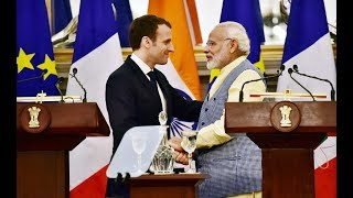 PM Shri Narendra Modi & French President Emmanuel Macron at a Joint Press Statement