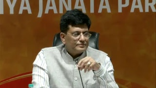 Press Conference by Shri Piyush Goyal at BJP Central Office, New Delhi : 11.05.2018
