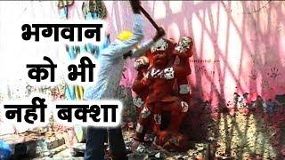 सुल्तानपुरी - MCD ने चलाया मंदिर की मूर्तियों पर हथौडा ।। गुस्साए लोगों ने किया रोष प्रदर्शन ।। DDTV