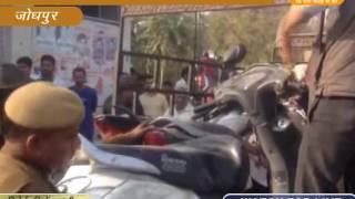 एक अनियंत्रित बस दनदनाती हुई जा घुसी शराब के ठेके में @जोधपुर