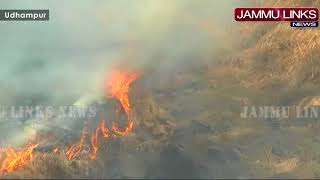 Major forest fire in Udhampur district