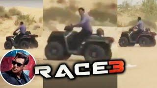 Salman khan Driving QUADBIKE In The Sands Of Jaisalmer | Race 3 Shooting
