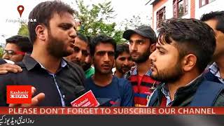 Students Protest Against JKSSB In Tangmarg