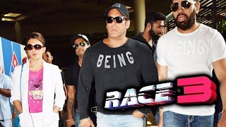 Salman Khan & Jacqueline In Returns Mumbai For RACE 3 Trailer Launch