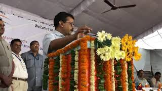 Arvind Kejriwal at the inauguration of 140 kWp Roof ofTop Solar Plant in Milan Vihar Apartments