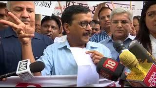 Delhi CM Arvind Kejriwal Briefs Media While Leaving for LG's House regarding Women Security