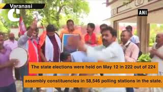 K'taka polls: BJP workers celebrate lead pan-India