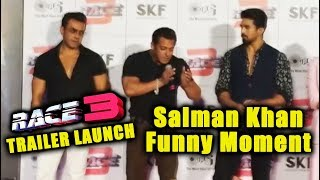 Car Ke Chote Chote Tukde Ho Gaye   Salman Khan Funny Moment   Race 3 Trailer Launch