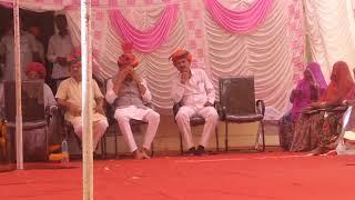 श्री मति वीणा पाणी चौधरी द्वारा सोजत रोड में भामाशाह सम्मान समारोह में आमसभा को संबोधित करते हुए!