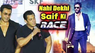 Salman Khan TAUNTS Saif Ali Khan's RACE At Race 3 Trailer Launch