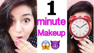 1 Minute Makeup Challenge | No Foundation Everyday Makeup | JSuper Kaur