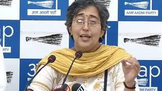 AAP Leader Atishi Marlena Briefs media on Security on Women & Installation of CCTV Camera's