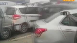 देखिये एक साथ 24 वाहन भिड़े आपस मे  on Yamuna Expressway