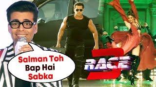Karan Johar Reaction On Fighting With Salman's RACE 3, RACE 3 Next Song EK GALTI - Salman Khan