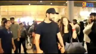 Uncut: Newly Wed Couple Neha Dhupia & Angad Bedi Spotted At Mumbai International Airport