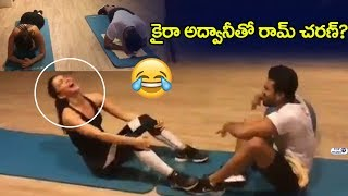 Ram Charan and Kiara Advani Gym workouts Video | Ram Charan Making Fun with Kiara Advani