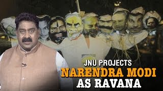 Modi as 'Ravana' | JNU Dussehra Celebration by burning Narendra Modi & Amit Shah effigy