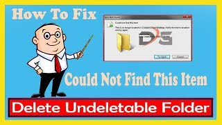 """Fix """"Could Not Find This Item"""" When Deleting A Folder In Windows"""
