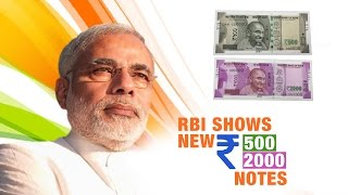 RBI shows new Rs 500 & Rs 2000 Notes | Narendra Modi Bans Rs 500 & Rs 1000 Notes