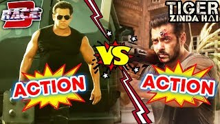 RACE 3 Action Vs Tiger Zinda Hai Action | Salman Khan's BIGGEST ACTION MOVIE