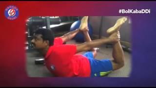 World Yoga Day with Dabang Delhi - Coach Honnappa C. Gowda
