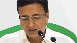 AICC Briefing by Ashok Gehlot and Randeep Singh Surjewala on 4 Failed Years of Modi's Govt