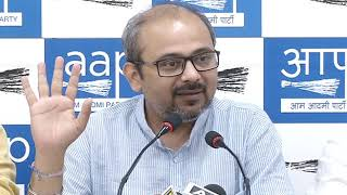 AAP Leader Dilip Pandey Briefs Media on MCD multi crore land scam