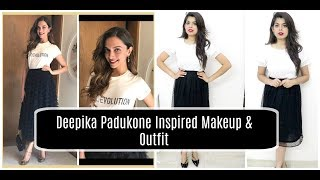 Deepika Padukone Inspired : Makeup & Outfit