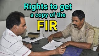 Rights to get a copy of the FIR   Rizwan Siddiquee   Whistleblower News India