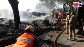 FIRE ACCIDENT AT GACHIBOWLI TV11 NEWS 21ST FEB 2017