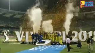 Chennai Super Kings 2018 Winning Moment - Full CSK Team