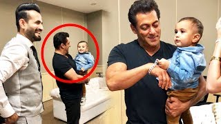 Salman Khan Playing With Irfan Pathan's Son During IPL 218 Finale