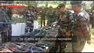 Arms & Ammunition Recovered from Tanghdar Encounter Site