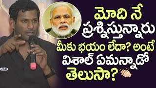 Hero Vishal Guts | Abhimanyudu Telugu Press meet | Samantha, Arjun Sarja | PM MODI | Top Telugu TV