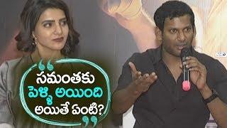 Hero Vishal about Samantha Akkineni | Abhimanyudu Telugu Press meet | Top Telugu TV