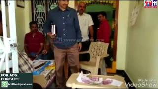 VRO  CAUGHT RED HANDED BY ACB AT MADHAVARAM PYAPILI TV11 NEWS 20TH MAR 2017