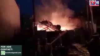 FIRE ACCIDENT  AT FURNITURE  GODOWN  AT HABEEBNAGAR PS TV11 NEWS 28TH MAR 20917
