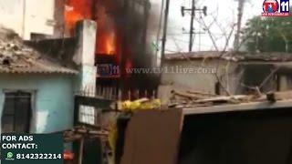 FIRE ACCIDENT AT SBJIMANDI KULSUM PURA TV11 NEWS 4TH APR 2017
